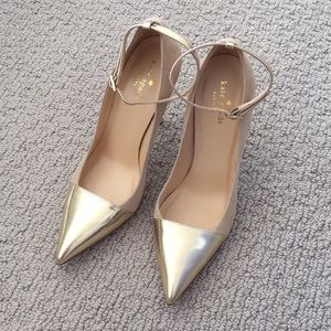 Kate Spade pumps heels size 8 gold/sand NEW
